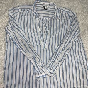 Striped white and blue tunic